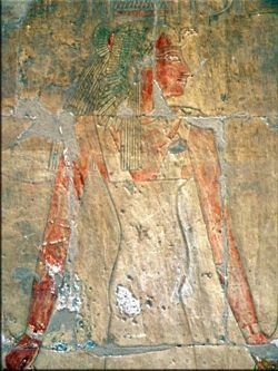 Queen Ahmose pregnant with the divine daughter of Amen, Hatshepsut.