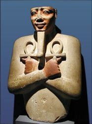 An Osiride statue of King Senwosret I