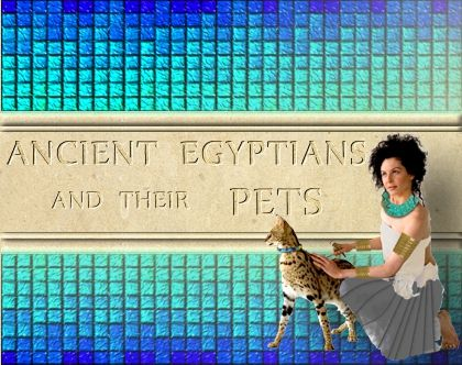 Ancient Egyptians and their Pets, artwork by Patricia L O'Neill